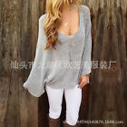 2017 New Sexy Trench Low O-Neck Blouse Womens Casual Loose Batwing Sleeve Top