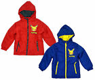 Boys Official Pokemon Pikachu Padded Hooded Coat Jacket Anorak 4 to 12 Years