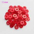 50/100pcs Candy Color Resin Sewing Bottons 4 Holes Cloths Crafts DIY Daily Goods
