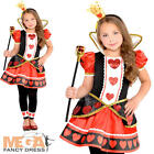 Queen of Hearts Girls Fancy Dress Fairy Tale Book Day Kids Childrens Costume New