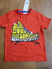 RED SUPER COOL AWESOME DUDE SHORT SLEEVED T SHIRT TOP 2 TO 3 YEARS BNWT