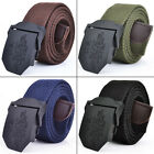 Fashion Men's Belt Canvas Waistband Buckle With Words Casual Waist Adjustable