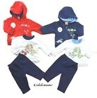 Baby boys 3 piece set hooded jacket trousers t-shirt 0-3 3-6 6-9 months clothes