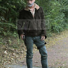 Rick Grimes / Andrew Lincoln The Walking Dead Brown Suede Leather Bomber Jacket