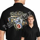 Hot Rod Retro Mechanic Work Shirt Rat Rod Pinstripes Small to 6XL Free Shipping