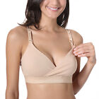 Womens Wire Free Racerback Cotton Bra for Maternity and Nursing
