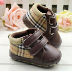Baby Toddler infant boy girl Brown Soft Sole Crib Shoes size 0-6-12-18 Months