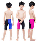 Boy Men Full Knee Sport Racing Training Swimming Trunks Jammers Shorts Swimwear