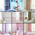 CATHERINE LANSFIELD PAIR OF CHILDRENS KIDS BOYS GIRLS BEDROOM RING TOP CURTAINS