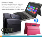 Leather cover with pouch bundled w Bluetooth keyboard for Google Pixel C 10.2""