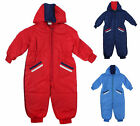 Boys Stripe Pocket Hooded Snowsuit Ski Suit Pramsuit Coat 6 Months to 4 Years