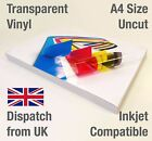 Bulk A4 Clear Transparent VINYL INKJET Print Gloss Self Adhesive Stickers Label