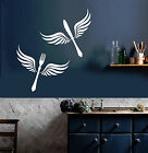 Vinyl Wall Decal Cutlery Wings Kitchen Restaurant Decor Stickers Mural (ig4226)