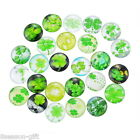 Wholesale 02 Mix Lucky Clover Glass Flatback Scrapbooking Dome Cabochons 20mm