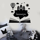 Vinyl Wall Decal Imagination Kids Room Book Fantasy Castle S