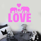 Vinyl Wall Decal Love Elephants Romantic Room Decor Stickers