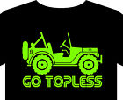 Jeep T shirt up to 5XL, Willys 4x4 offroad tyre roll bar winch