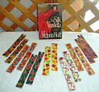 BOOKMARKS~AUTUMN Or FALL~Set Of 2~Fabric~Reversible~Washable~NEW~FREE SHIP