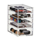 ETTICA 'SLIM' COSMETIC CUBE CLEAR ACRYLIC MAKEUP BOX ORGANISER