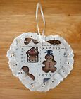 ORNAMENTS Or HANG-UPS~CHRISTMAS~Fabric & Eyelet~Reversible~NEW~FREE SHIP