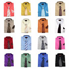 Dimension Mens Dress Shirt With Matching Tie And Handkerchief Many Colors Avail