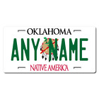 Personalized Oklahoma License Plate for Bicycles, Kid's Bikes & Cars Ver 1