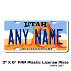 Personalized Utah License Plate for Bicycles, Kid's Bikes & Cars & Trucks Ver 2