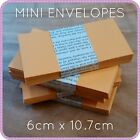 10 20 100 MINI SMALL ENVELOPES WEDDING BOMBONIERE FAVOUR SCRAPBOOKING seed kraft