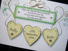 Hand-made personalised wedding plaque style card (can request wedding colours)