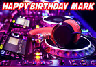 Deejay Disc Jockey DJ D.J. Music Record Mixer Birthday Party Cake icing sheet