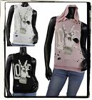 SEXY PLUS DISTRESSED PINK BLACK PEACE LOVE HOODED SHIRT TOP BLOUSE L 1X 2X 3X