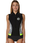 Rip Curl G Bomb Capsleeve Womens Springsuit, Black, Yel Sleeveless Wetsuit GBOMB