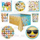 EMOJI Smiley Faces  Boys Girls Birthday Party Tableware Supplies