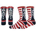 BAD ASS Crew Socks unisex elite style novelty dont mess with USA red white blue