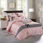 1000TC Egyptian Cotton London Bridge Striped Embroidery Quilt Doona Cover Set