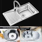 Stainless Steel Laundry Kitchen Sink With Complete Plumbing Drainer Waste Kit
