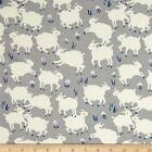 HAPPY HOMESTEAD LITTLE LAMB GREY ORGANIC SEWING CRAFT QUILT FABRIC Free Oz Post