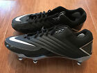NEW Nike Super Speed D Low Men's Size 13 Football Cleats Black/White/Silver
