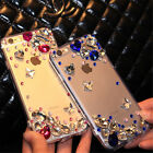 Glitter Luxury Bling Diamonds Gemstone butterflys hard back Shell Case Cover #b