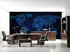 3D Shiny World Map 1724 Wallpaper Decal Dercor Home Kids Nursery Mural Home