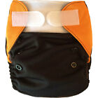Miababy NB/S AIO/Pocket cloth diaper charroal bamboo inner & hemp insert fit3-6m