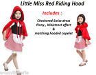Girls Little Red Riding Hood Fancy Party Dress Costume Fairytale WORLD BOOK DAY