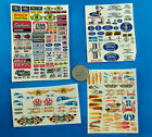 HO SLOT CAR Waterslide DECALS,  FORD Edelbrock Champion STAHL Goodyear FLAMES #E