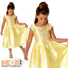 Live Action Belle Girls Fancy Dress Disney Princess Beauty Book Day Kids Costume