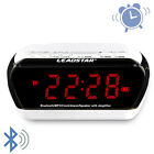 Portable Wirelss Alarm Clock Bluetooth Speakers Hands-free Calls LCD Screen TF