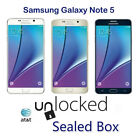 """5.7"""" Samsung Galaxy Note 5 Sm-n920a Gsm At&t Unlocked 32g 4g Android Smartphone"""