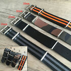 MILITARY New Nylon Fabric Black Green Wrist Watch Strap Band 18/20/22/24mm