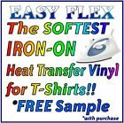 """IRON-ON T-shirt Heat Transfer Vinyl - 3"""" x 6.5"""" SAMPLES for ALL Cutting Machines"""