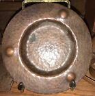 Roycroft Hammered Copper Pin Tray with dimples. Original Patina -4 1/2 Diameter