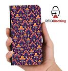 RFID Protected Abstract PU Leather Wallet Custom Case Cover Apple iPhone